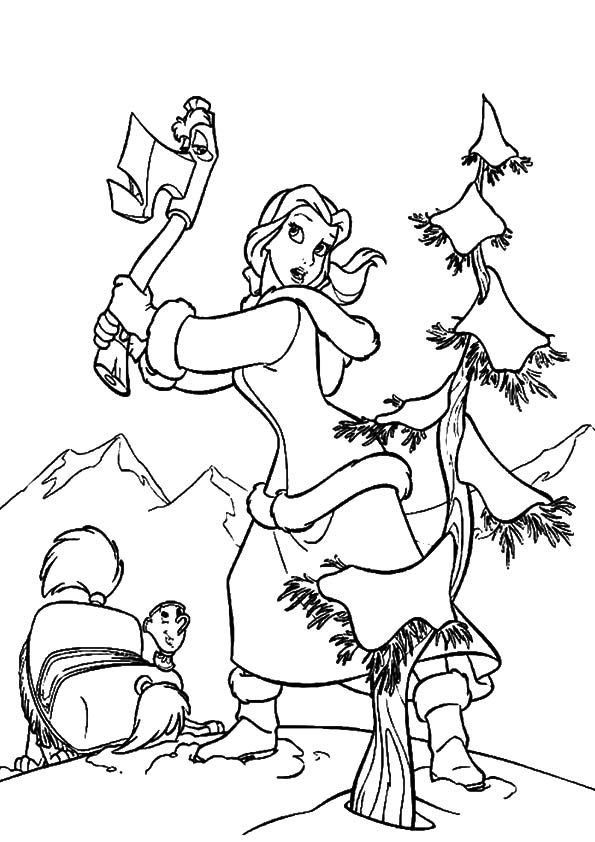 Belle Cutting The Christmas Tree