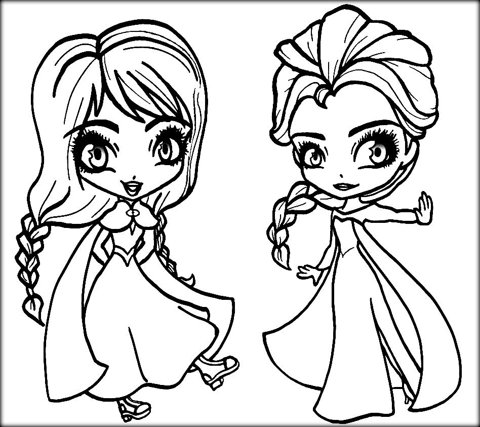 Anna And Elsa Chibi