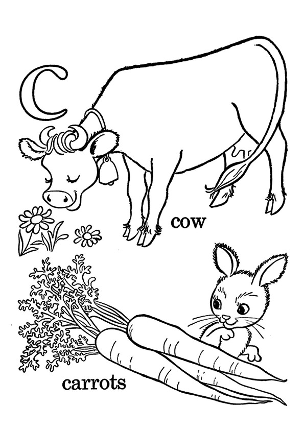 Rabbit With Carrots And Cow