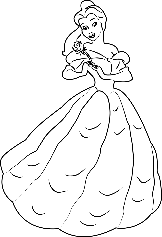 Belle With Rose
