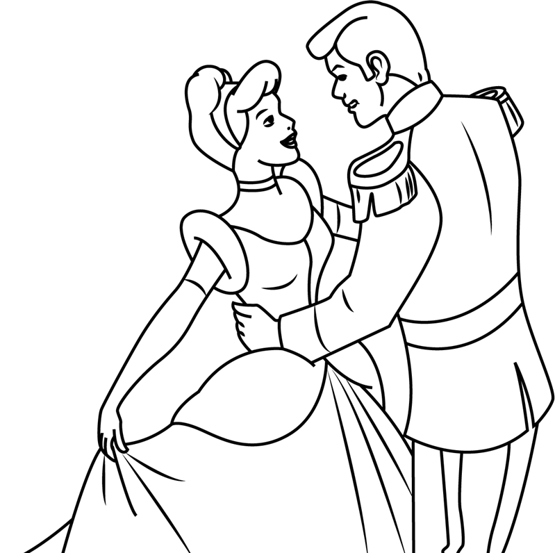 Prince Charming And Cinderella Dancing