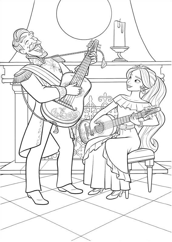 Elena Playing Guitar