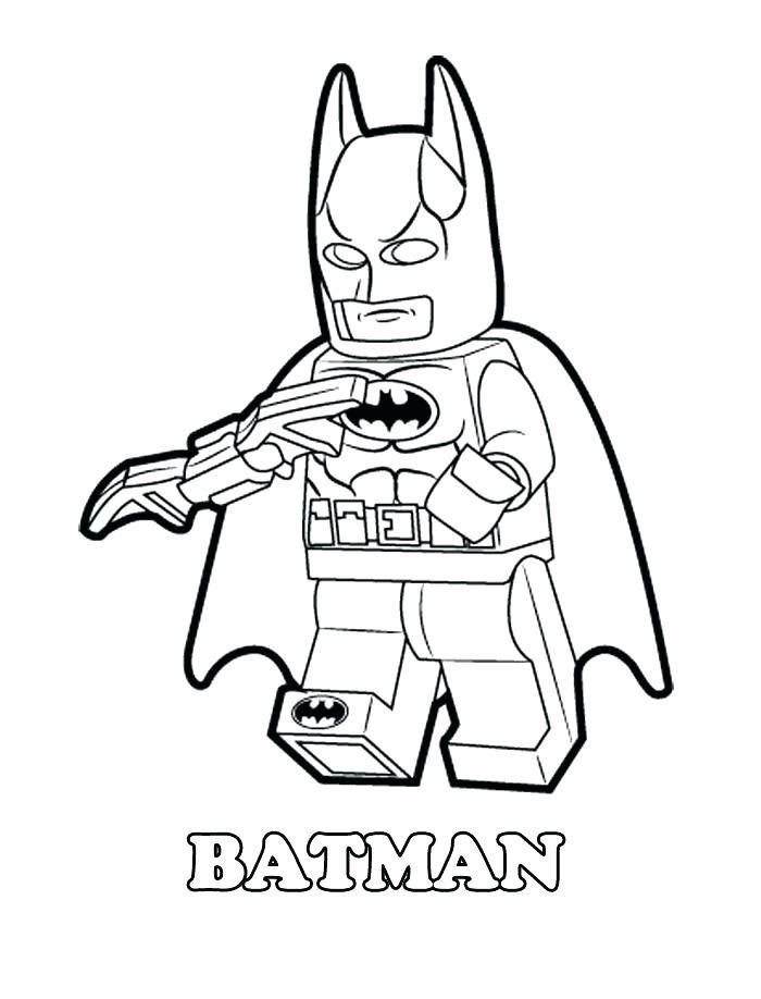 Lego Batman Holding Batarang