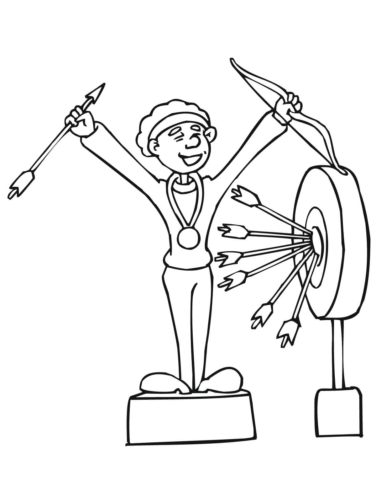 The Archer Won The First Prize