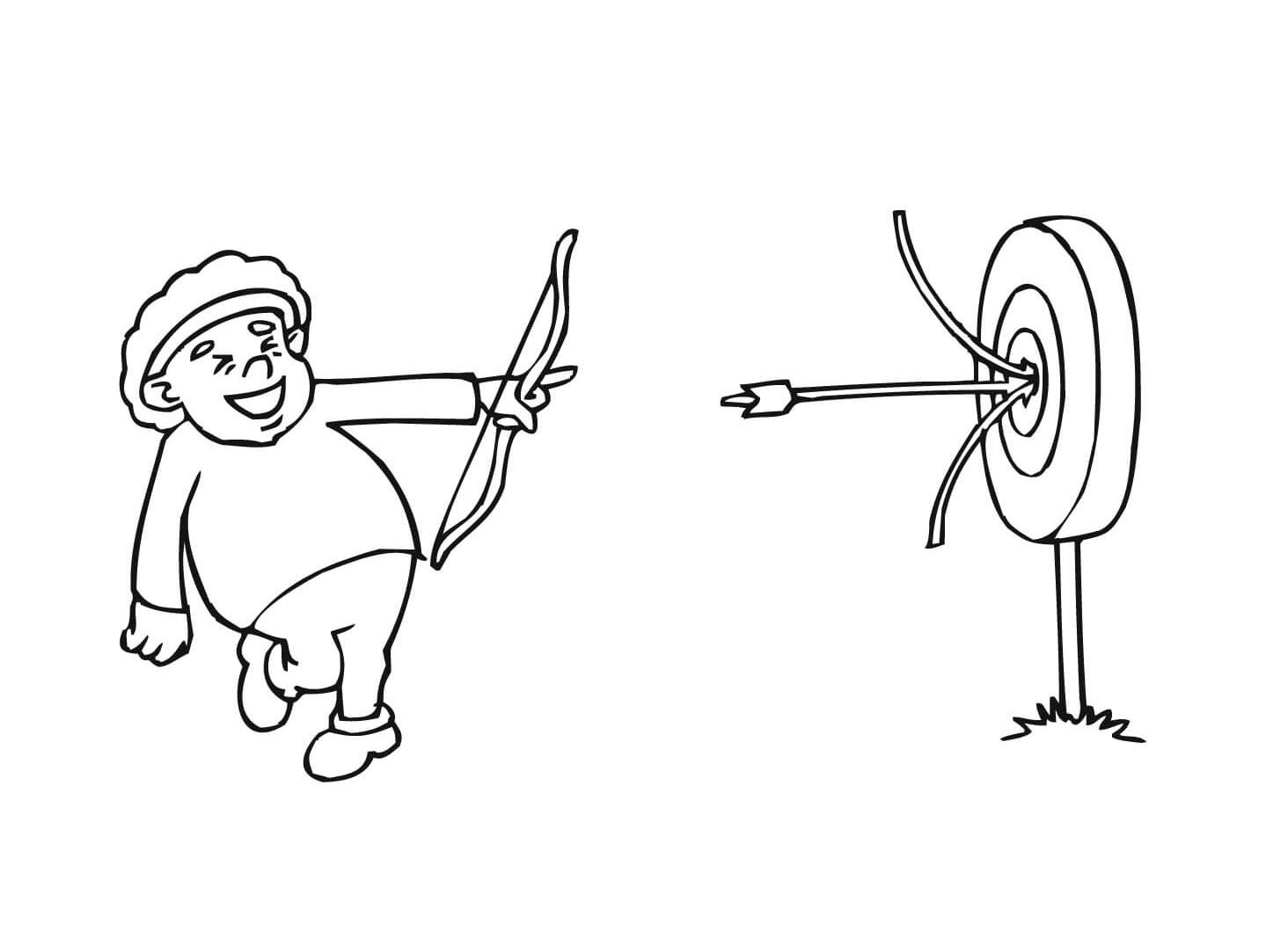The Boy Shooting The Arrow