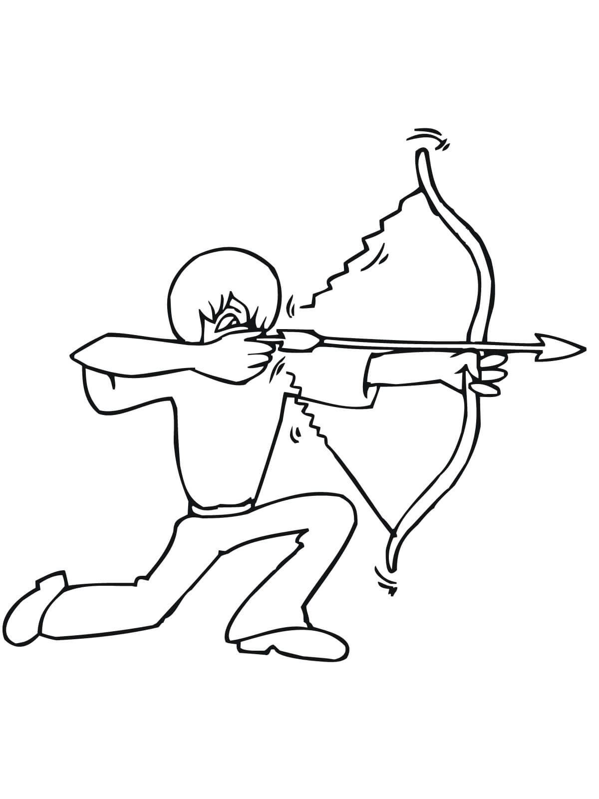 The Boy Holding A Bow