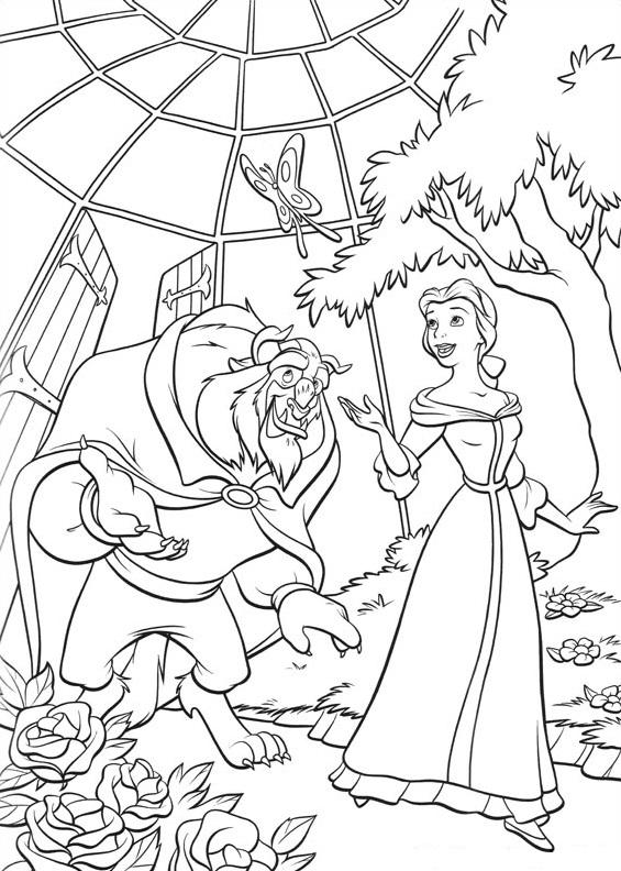 Monster And Belle In The Garden