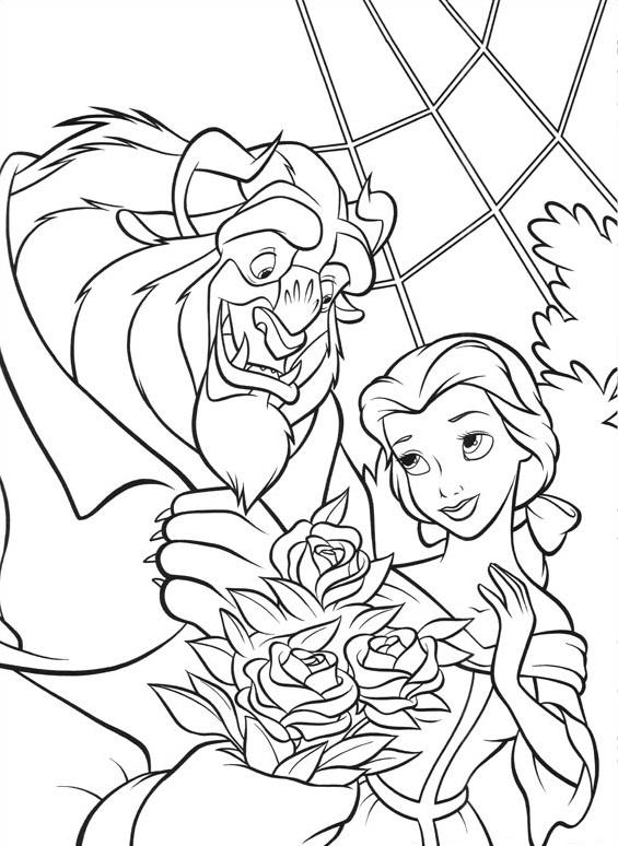 Monster Giving Belle Flowers