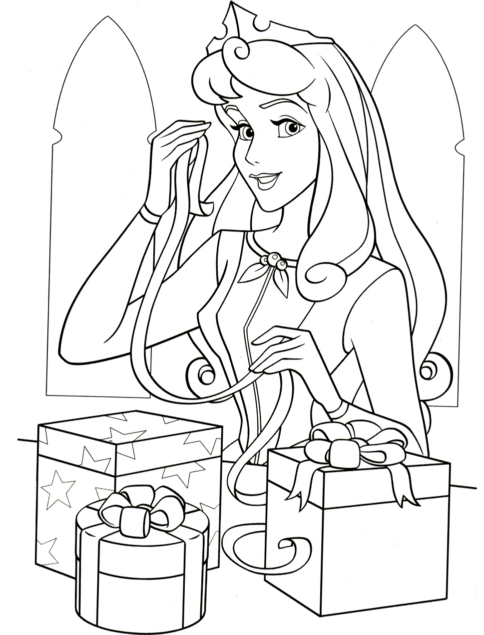 Aurora With Gift Boxes
