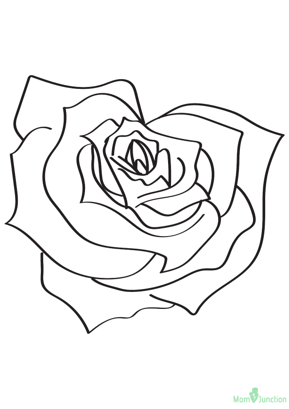 rose coloring pages games - photo#5