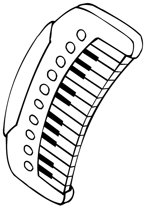 coloring pages keyboard computer | Electronic Keyboard Coloring - Play Free Coloring Game Online