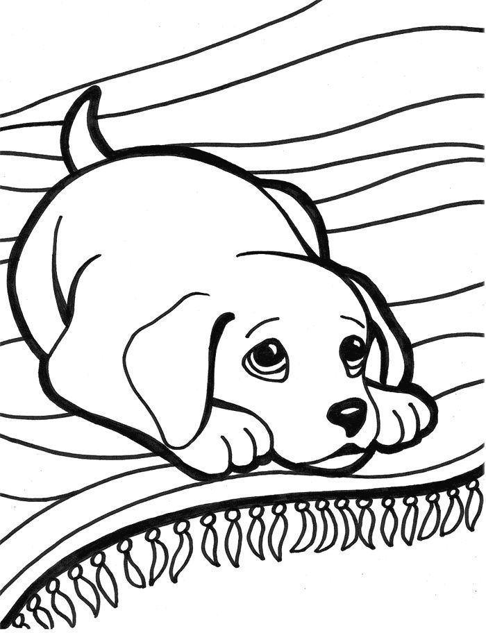 Sad Puppy Coloring - Play Free Coloring Game Online