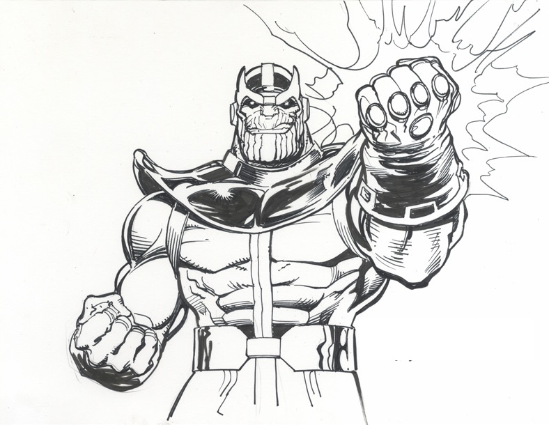 Power Fist Of Thanos Coloring - Play Free Coloring Game Online