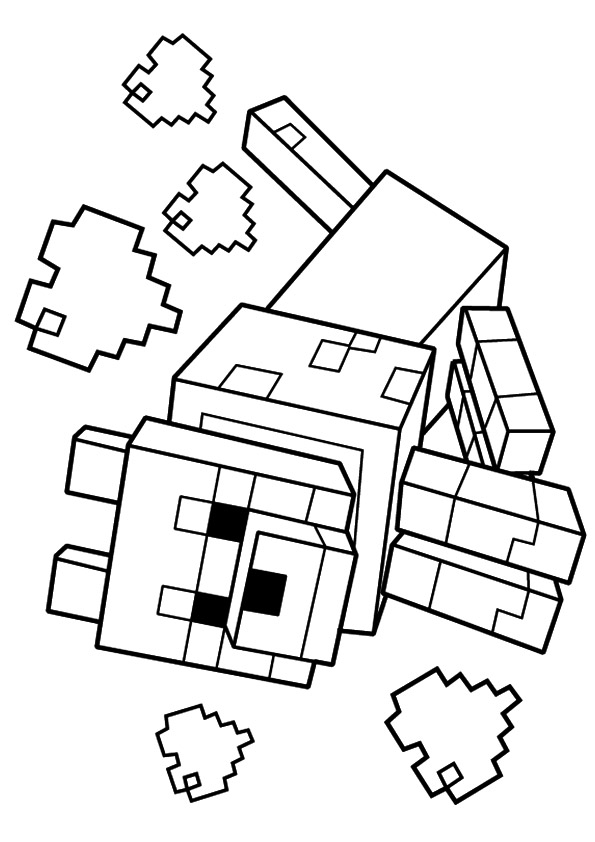 Wolf In Minecraft Coloring Play Free Coloring Game Online