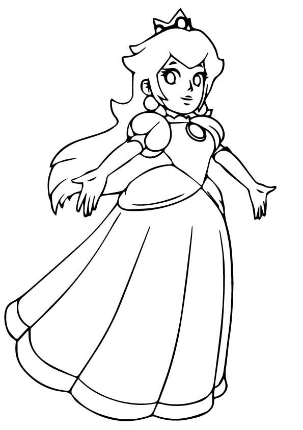 Princess Peach Dancing Coloring Play Free Coloring Game