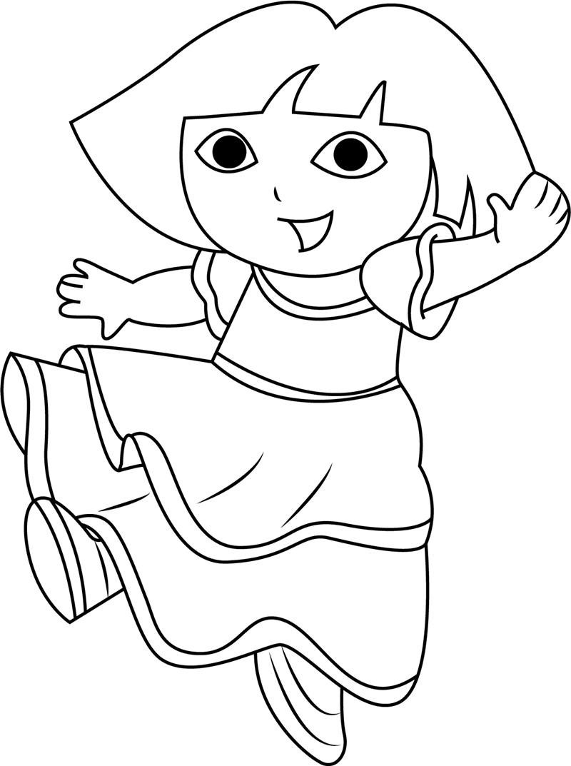 Dora Is Dancing Coloring - Play Free Coloring Game Online