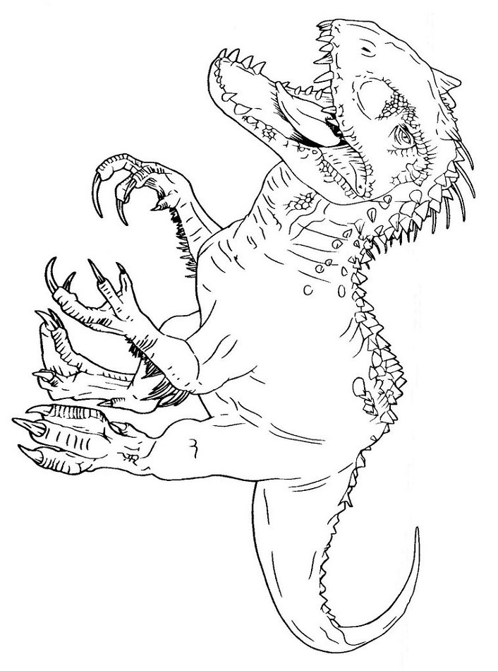 Indominus Rex Coloring - Play Free Coloring Game Online