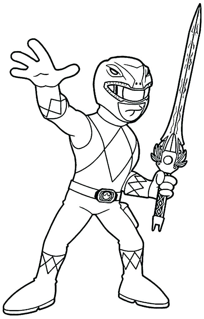 Cute Power Ranger Coloring - Play Free Coloring Game Online