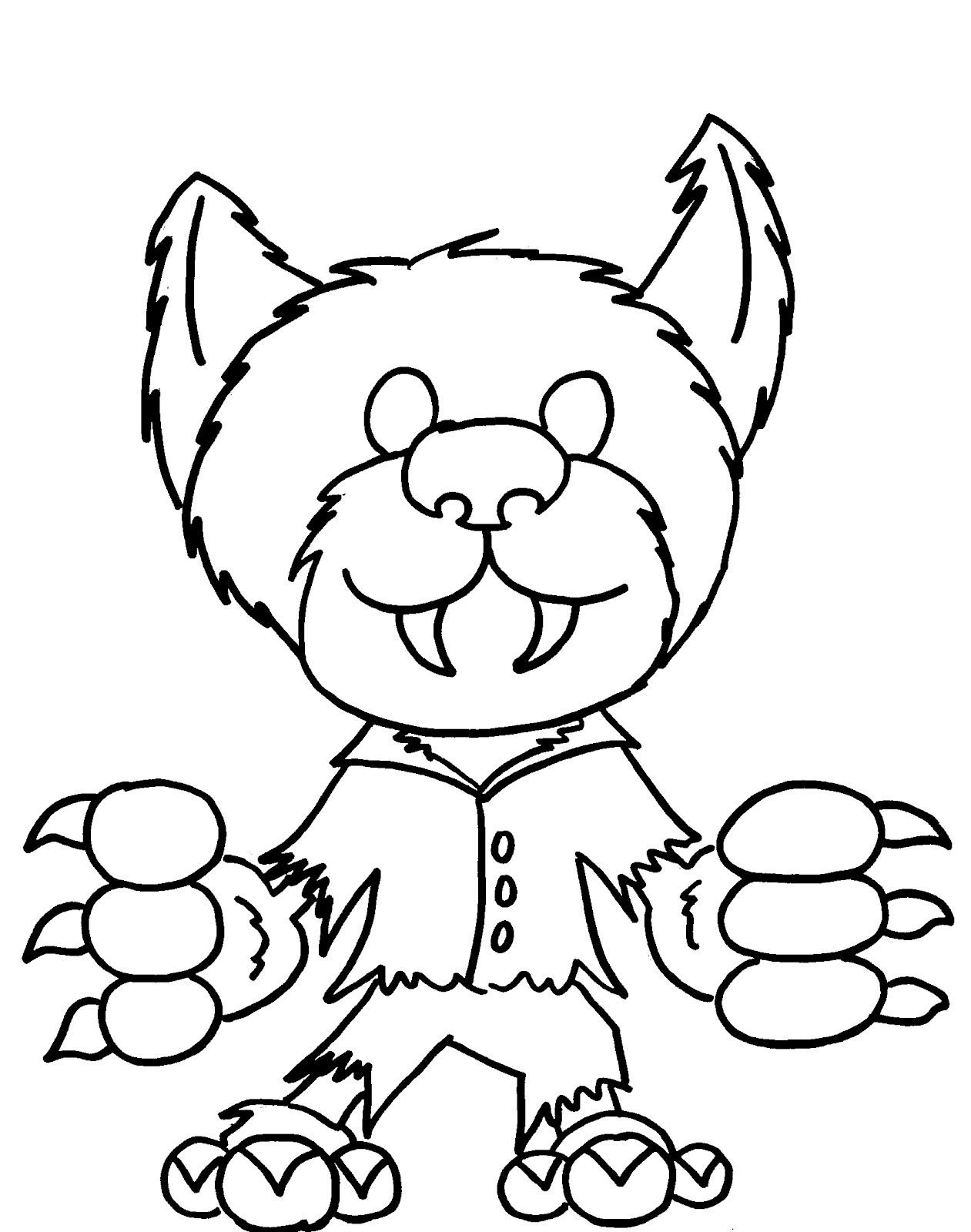 Cute Werewolf Coloring - Play Free Coloring Game Online