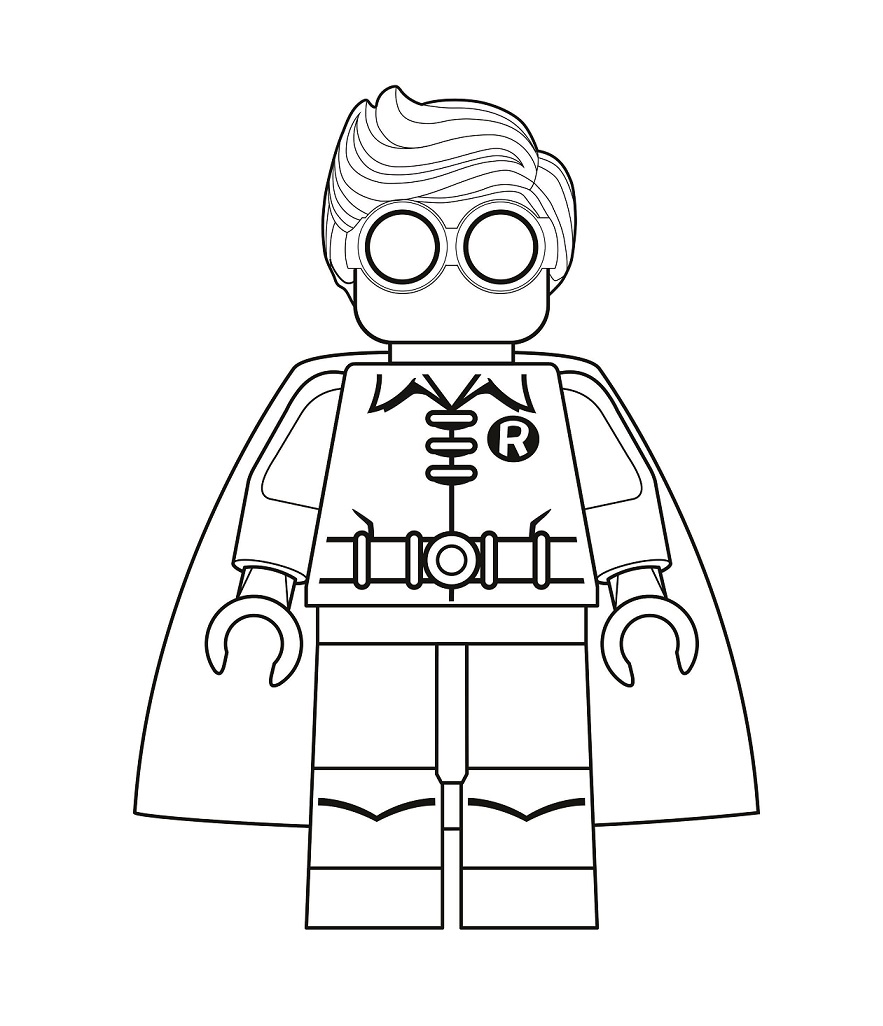 Lego Robin Coloring - Play Free Coloring Game Online