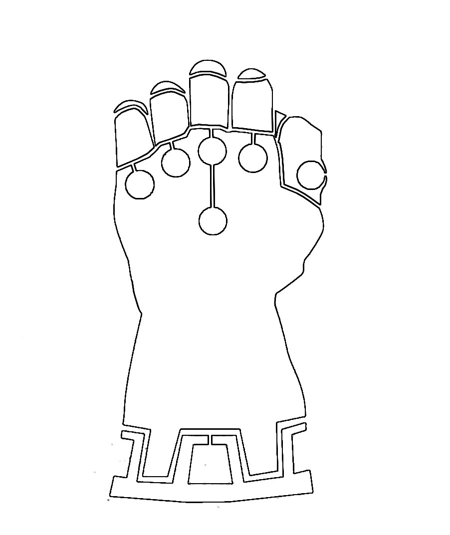 Simple Infinity Gauntlet Coloring - Play Free Coloring ...
