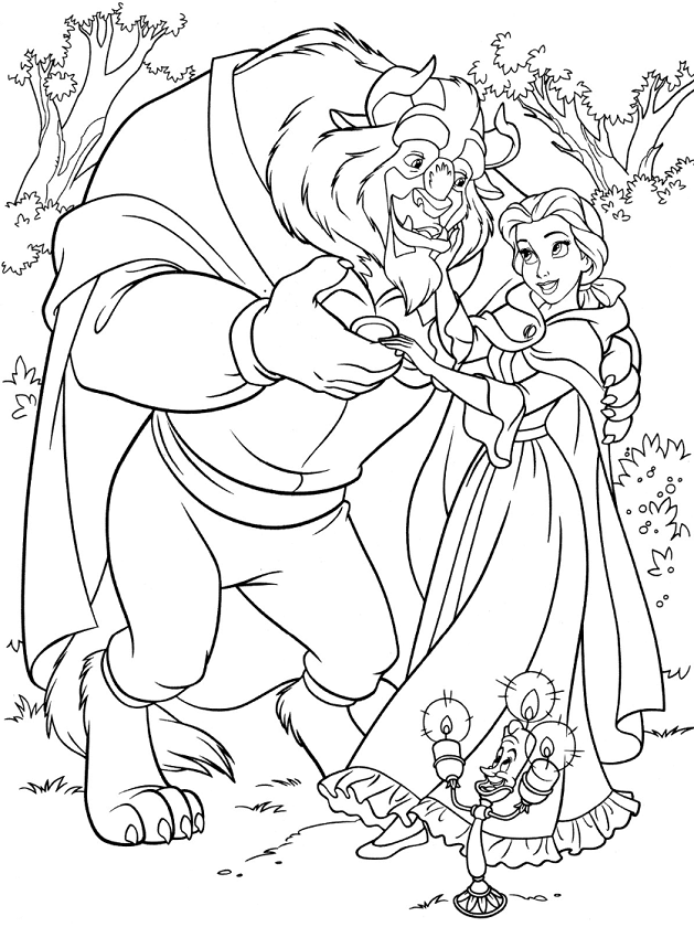 Monster And Belle Dancing