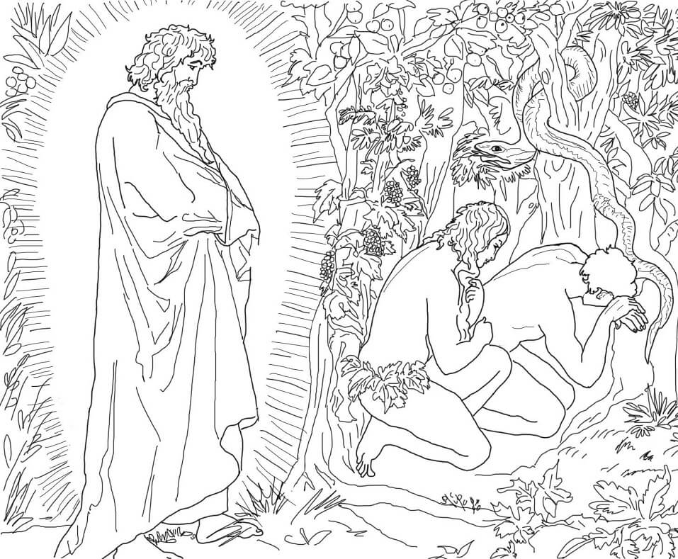 Adam and Eve Flee from the Presence of God