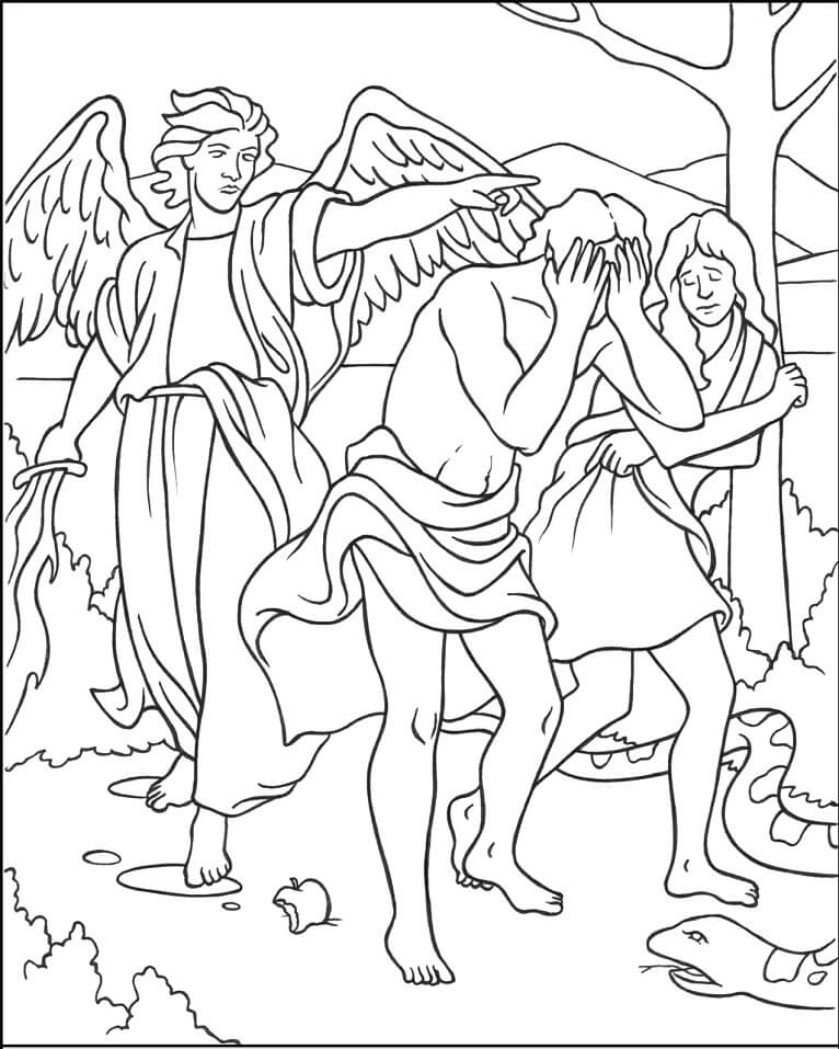 Adam and Eve exiled from Eden
