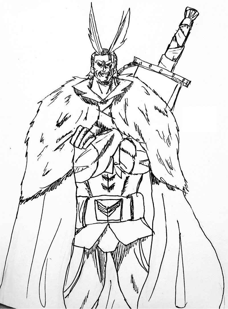 All Might with his sword