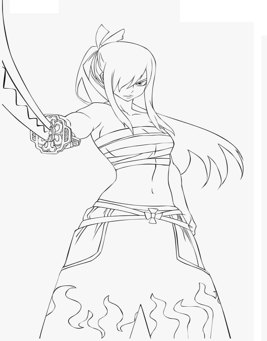 Angry Erza Scarlet