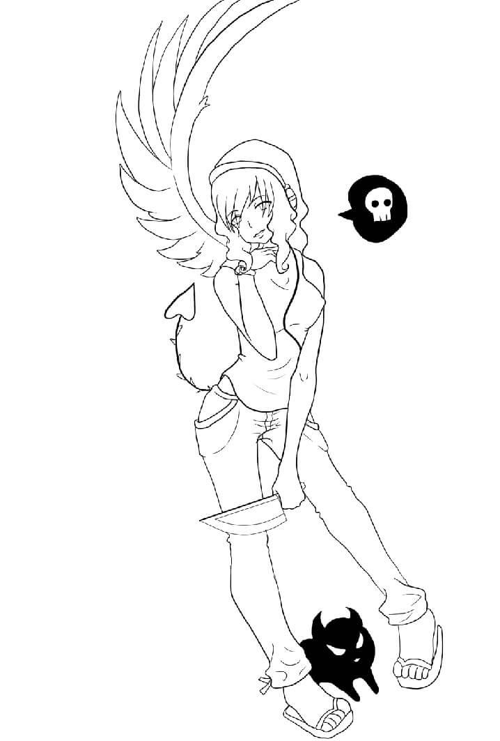 Anime Devil Girl