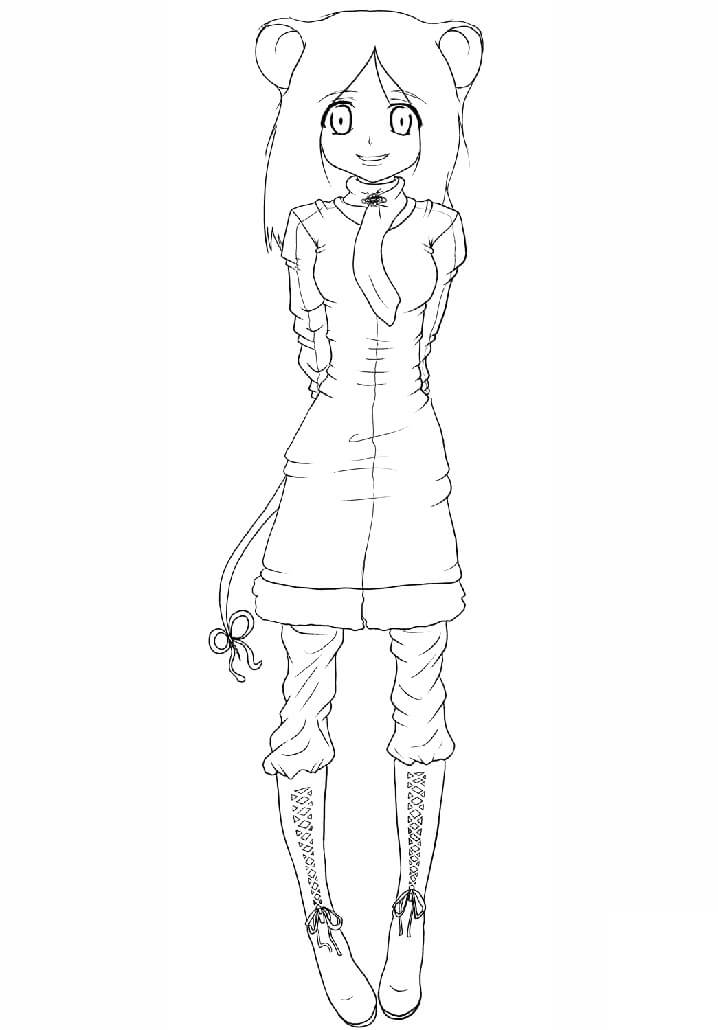 Anime Mouse Girl