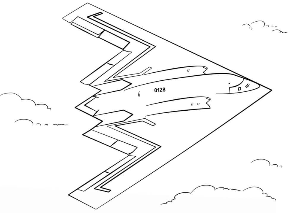 B-2 Stealth Bomber Fighter Jet