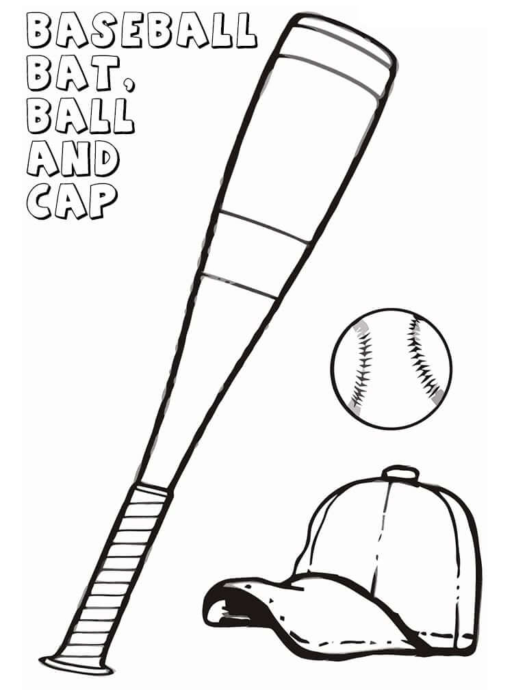 Baseball Bat, Ball and Cap
