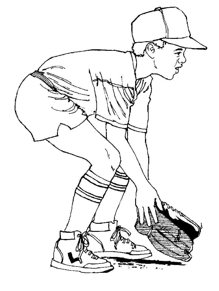 Boy Playing Baseball
