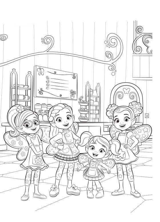 Characters from Butterbean's Cafe 1
