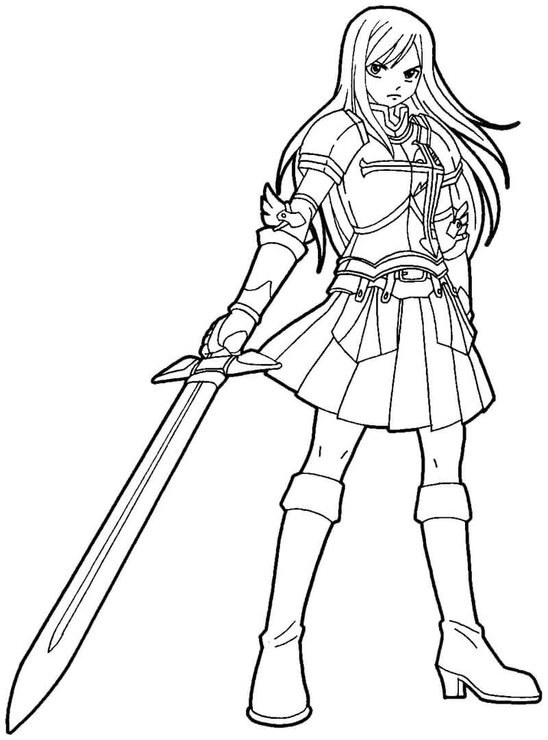 Erza Scarlet with Sword
