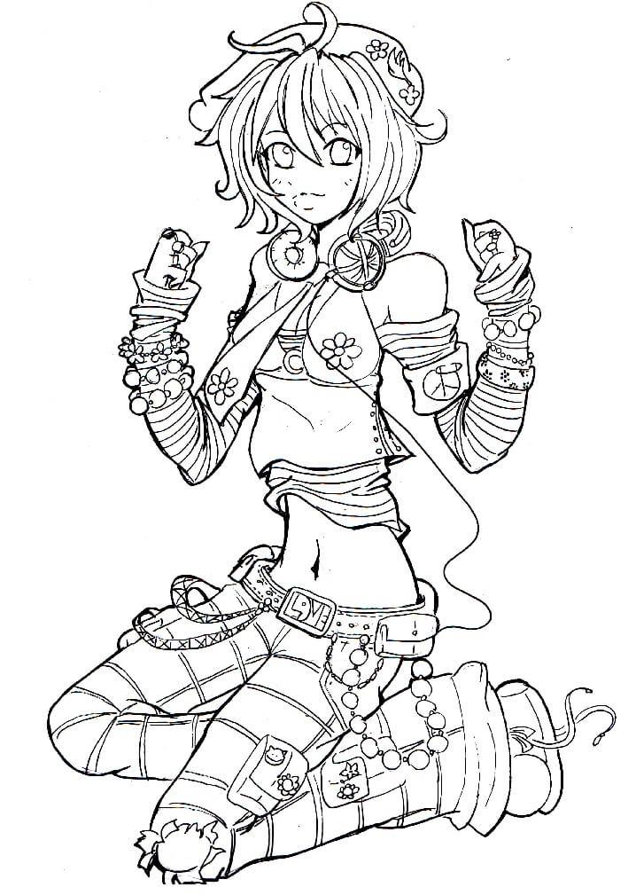 Flower Power Anime Girl