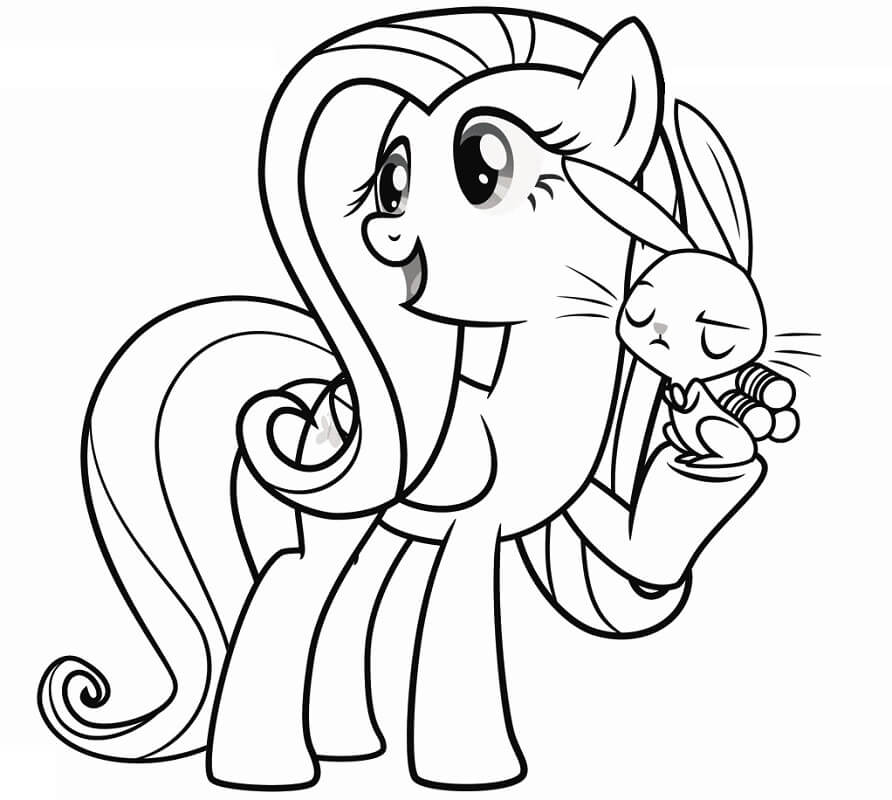 Fluttershy and a Rabbit