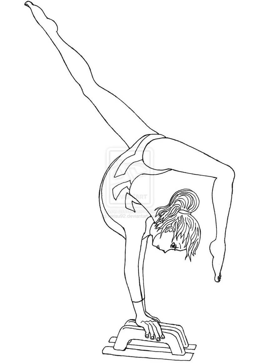 Full Turn on Balance Beam Gymnastics 1