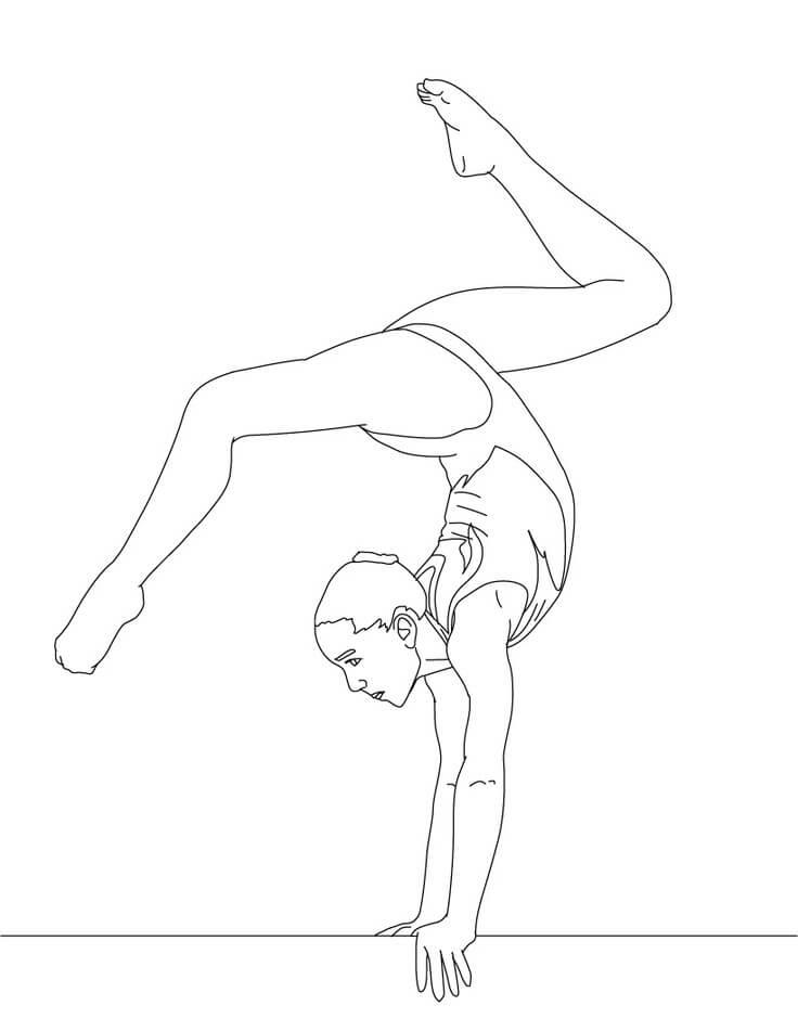 Full Turn on Balance Beam Gymnastics