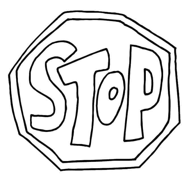 Funny Stop Sign