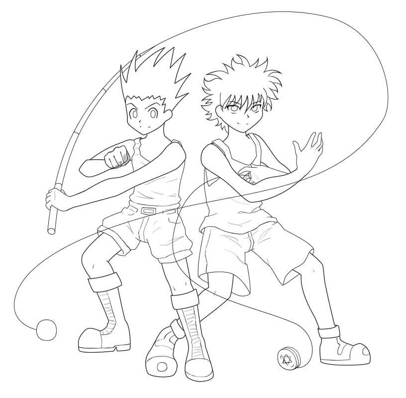 Gon and Killua Hunter x Hunter 1