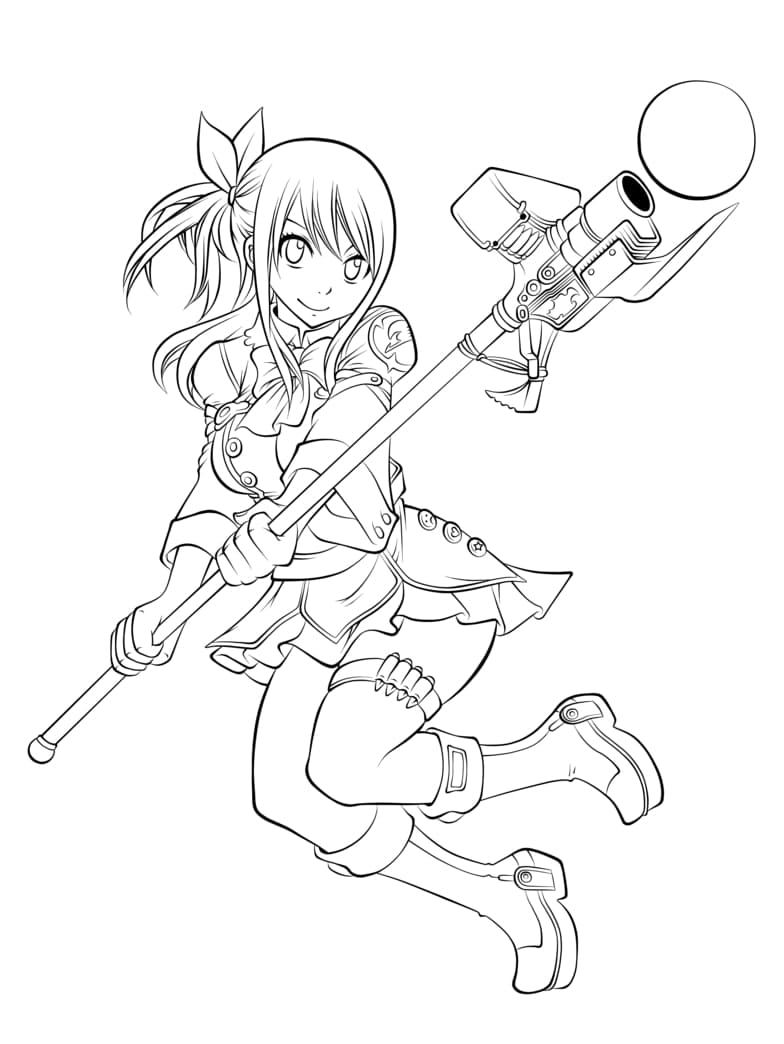 Lucy Heartfilia with Weapon