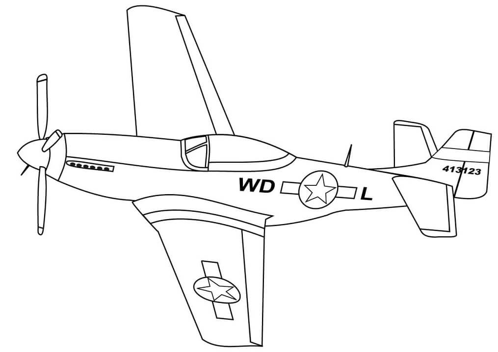 P-51 Mustang Fighter Jet