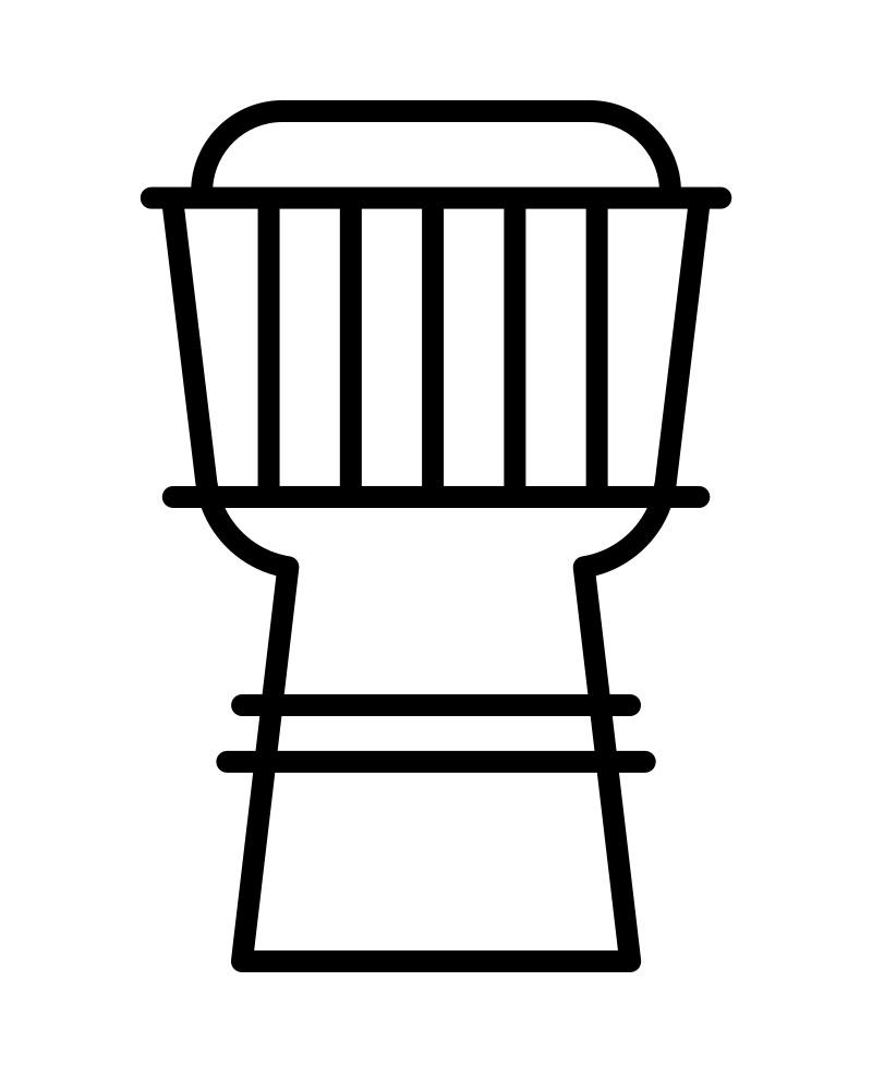 Simple Drum Djembe