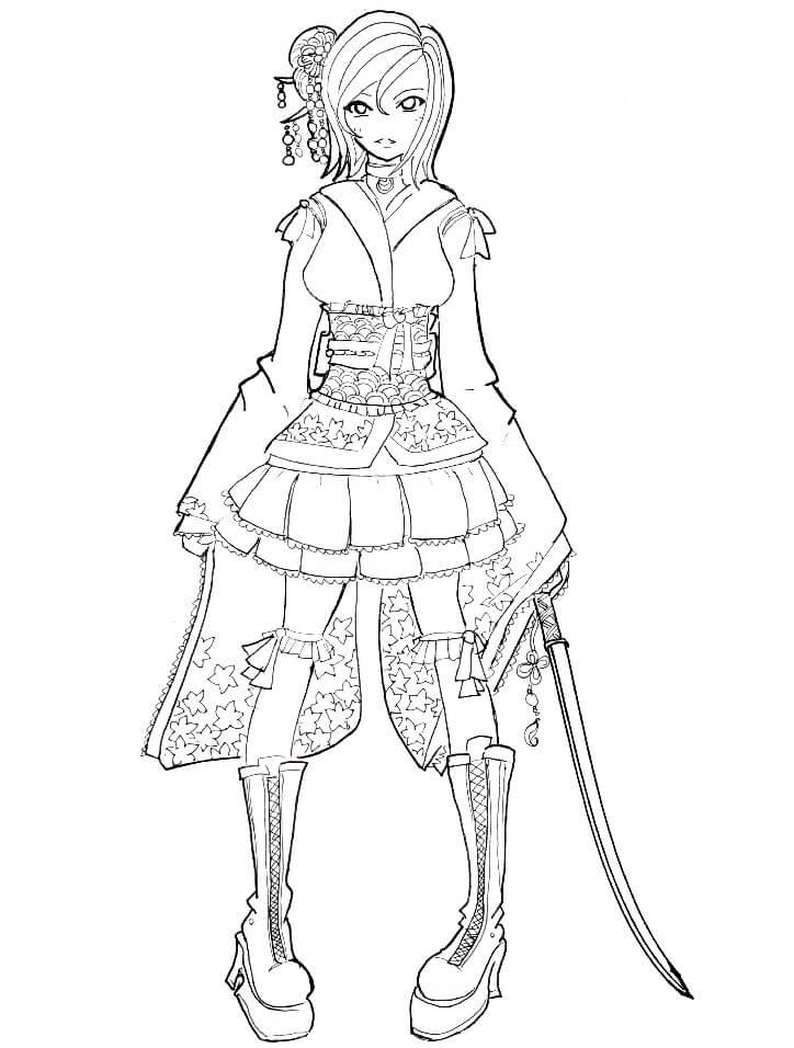 Wa Lolita Anime Girl