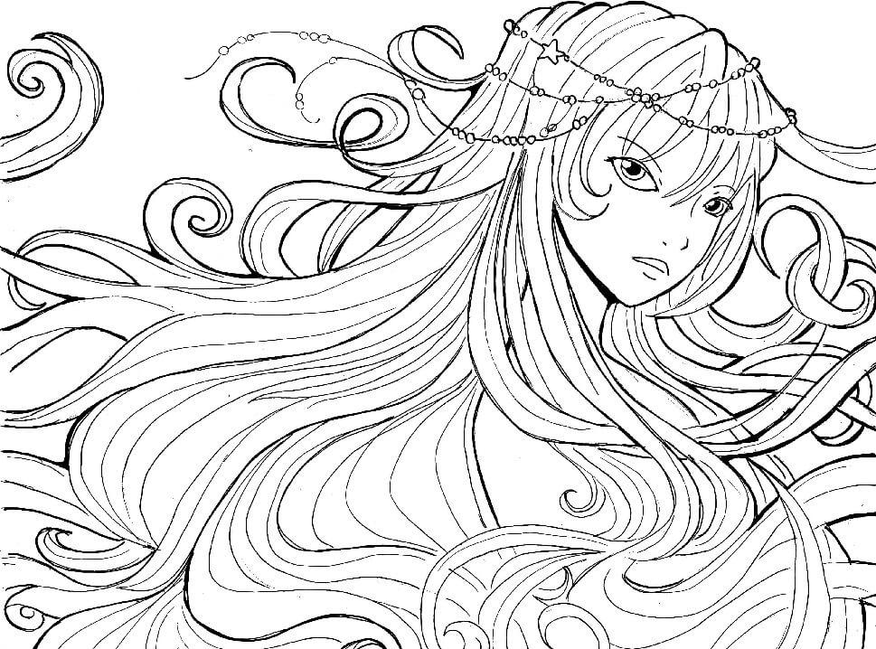 Water Soul Anime Girl